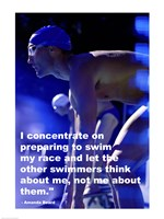 Concentration - Swimming Quote Fine Art Print