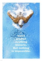Historic Swimming Quote Fine Art Print