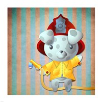 Little Firemans Helper Fine Art Print