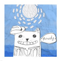 Howdy Cat Fine Art Print