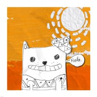 Hola Cat Fine Art Print