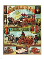 Fire Extinguisher Mfg. Co., Advertising Poster, ca. 1890 Fine Art Print