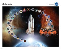 Space Shuttle Columbia Tribute Poster Fine Art Print
