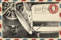 Small Vintage Air Mail II Fine Art Print