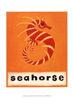 S is for Seahorse Framed Print