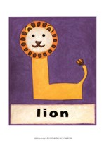 L is for Lion Framed Print