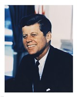 John F. Kennedy, White House Color Photo Portrait Fine Art Print