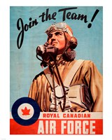 Join the Team RCAF Fine Art Print
