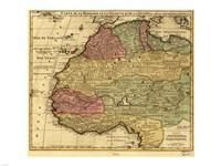 Map of Africa 1742 Fine Art Print