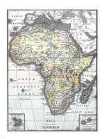 Map of Africa from Encyclopaedia Britannica 1890 Fine Art Print