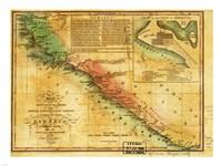 Map of West Coast of Africa 1830 Fine Art Print