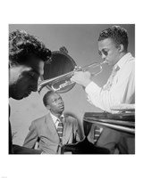 Miles Davis, Howard McGhee, September 1947 Framed Print