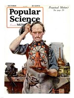 Perpetual Motion by Norman Rockwell Fine Art Print