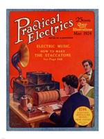 Practical Electrics March 1924 Cover Fine Art Print