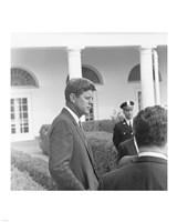 President KennedyGreets Latin American Archivists Fine Art Print