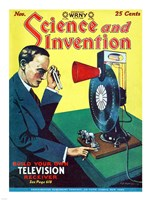 Science and Invention Nov 1928 Cover Fine Art Print