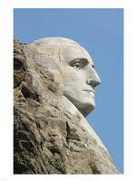 Sideview of George Washington Statue at Mt Rushmore Fine Art Print