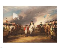 The Surrender of Lord Cornwallis at Yorktown October 19 1781 Fine Art Print