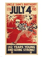 Uncle Sam's Birthday 1776 July 4th 1918 Fine Art Print