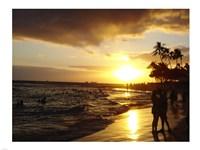 Waikiki Beach at Sunset Fine Art Print