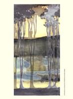 Small Nouveau Landscape II Fine Art Print