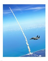 4th FW Strike Eagles Assist Shuttle Launch Fine Art Print