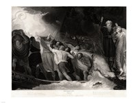 George Romney - William Shakespeare - The Tempest Act I, Scene 1 Fine Art Print
