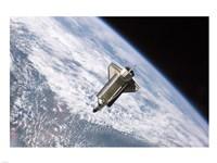 STS115 Atlantis Undock ISS Fine Art Print