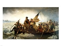 Washington Crossing the Delaware by Emanuel Leutze, MMA-NYC, 1851 Framed Print