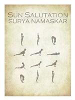 Sun Salutation Chart Fine Art Print
