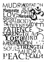 Yoga Words Fine Art Print