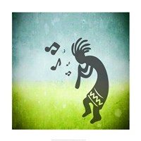 Kokopelli Music I Framed Print