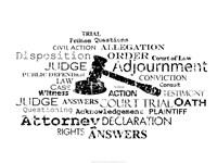 Law Words Framed Print