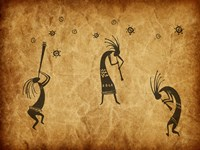Kokopelli Jamming Framed Print