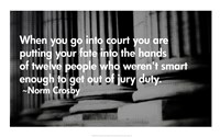 Court Quote Fine Art Print