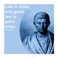 Aristotle Law Quote Fine Art Print