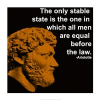 Aristotle Quote Fine Art Print