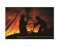 Firefighter Hero Quote Fine Art Print
