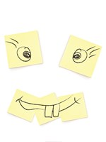 Post- It Smiley Face Fine Art Print