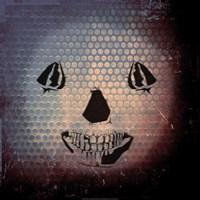 Grunge Skull Smile Fine Art Print