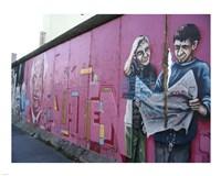 Torn Newspaper Berlin Wall Fine Art Print