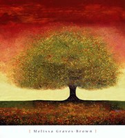 Dreaming Tree Red Fine Art Print