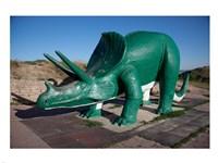 Triceratops Sculpture Fine Art Print
