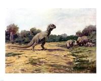 T Rex Posture Framed Print