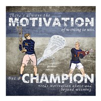 Motivation of Wanting to Win Framed Print