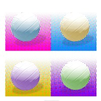 Volleyball Pop Squares Fine Art Print