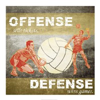 Offense, Defense Fine Art Print