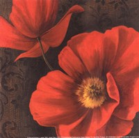 Rouge Poppies II - petite Framed Print