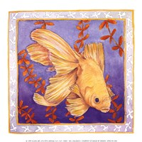 Goldfish On Purple Fine Art Print