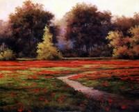 Autumn Poppies I Fine Art Print